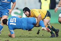 Andrea Masi, Benn Robinson.Firenze 24/11/2012 Artemio Franchi Stadium .Rugby test match .Italia vs Australia / Italy Vs Australia.Photo Matteo Ciambelli /
