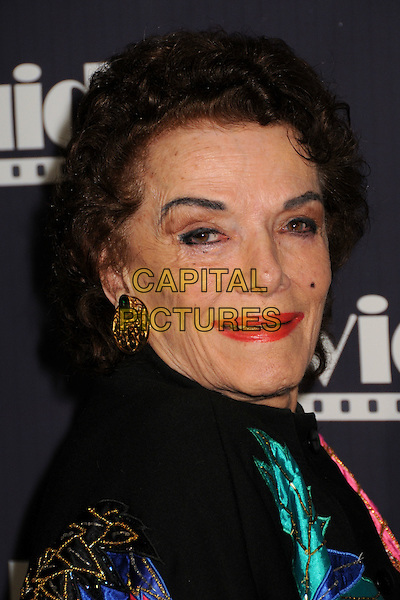 JANE RUSSELL.17th Annual Movieguide Faith and Values Awards Gala at the Beverly Hilton Hotel, Beverly Hills, California, USA..February 11th, 2009.headshot portrait red lipstick gold earrings.CAP/ADM/BP.©Byron Purvis/AdMedia/Capital Pictures.