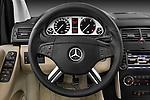 Steering wheel view of a 2009 Mercedes B Class Sport Mini MPV