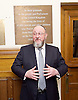 Kinderstransport plaque in Parliament, Westminster, London, Great Britain <br /> 27th January 2017 <br /> <br /> Chief Rabbi and Archbishop of Canterbury to mark Holocaust Memorial Day with Lord Dubs at rededication of Kindertransport plaque in Parliament<br />  <br /> 20 years ago the Committee of the Reunion of the Kindertransport donated a plaque to Parliament commemorating Britain&rsquo;s act of generosity to Jewish children in Nazi-occupied Europe. On Holocaust Memorial Day [27 January 2017], the plaque will be rededicated in the presence of newly arrived child refugees who were reunited with their families from Calais last year by Safe Passage, a project of Citizens UK. <br />  <br /> The ceremony will be particularly poignant as it will be attended by Lord Dubs, himself a Kindertransport survivor, who passed an amendment to the Immigration Act last year, with the Government's support, affording sanctuary in the UK to some of the most vulnerable lone child refugees in Europe.<br />  <br /> Chief Rabbi, Ephraim Mirvis, <br /> <br /> <br /> <br /> <br /> Photograph by Elliott Franks