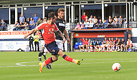 Jack Marriott of Luton Town puts his side level after being 1-0 down during the Sky Bet League 2 match between Luton Town and Doncaster Rovers at Kenilworth Road, Luton, England on 24 September 2016. Photo by Liam Smith.