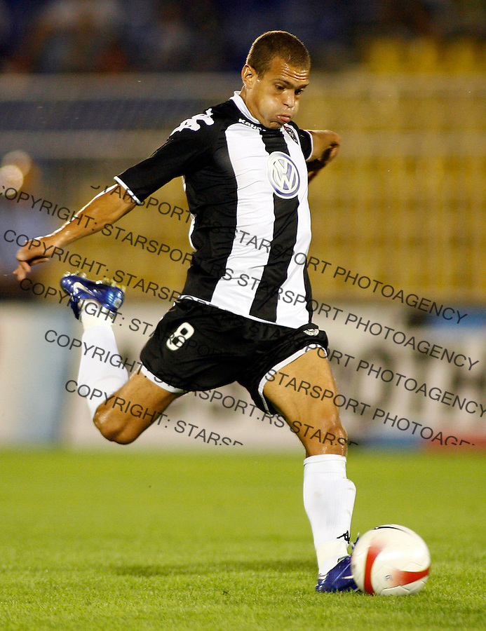 Partizan Belgrade player Liliano Roberto Antonello Juca from Brazil, in action, during UEFA Cup, first qualifying round, second leg, soccer match in Belgrade, Serbia, Thursday, Aug. 2, 2007. (Srdjan Stevanovic/starsportphoto.com)