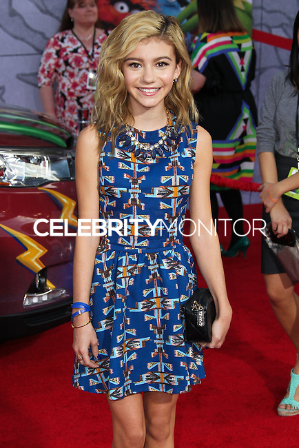 """HOLLYWOOD, LOS ANGELES, CA, USA - MARCH 11: G Hannelius, Genevieve Hannelius at the World Premiere Of Disney's """"Muppets Most Wanted"""" held at the El Capitan Theatre on March 11, 2014 in Hollywood, Los Angeles, California, United States. (Photo by Xavier Collin/Celebrity Monitor)"""