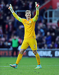 Manchester City goalkeeper Joe Hart celebrates at the end of the game<br /> - Barclays Premier League - Southampton vs Manchester City - St Mary's Stadium - Southampton - England - 30th November 2014 - Pic Robin Parker/Sportimage