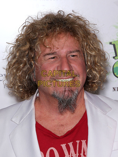 "SAMMY HAGAR .At the Nevada Cancer Institute's 9th annual ""Rock For The Cure"" at the Aria Resort Hotel and Casino at CityCenter, Las Vegas, Nevada, USA, .11th November 2010..portrait headshot red goatee beard facial hair white .CAP/ADM/MJT.© MJT/AdMedia/Capital Pictures."