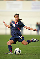 USA's Stephani Lopez in 2010 Algarve Cup game in Ferreiras, Portugal.