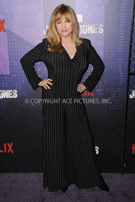 www.acepixs.com<br /> March 7, 2018  New York City<br /> <br /> Rebecca De Mornay attending attending Marvel's 'Jessica Jones' season 2 TV show premiere on March 7, 2018 in New York City.<br /> <br /> Credit: Kristin Callahan/ACE Pictures<br /> <br /> <br /> Tel: 646 769 0430<br /> Email: info@acepixs.com