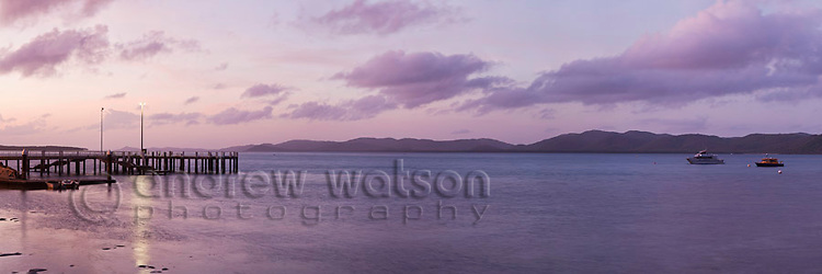 Engineers Wharf at dusk.  Thursday Island, Torres Strait Islands, Queensland, Australia