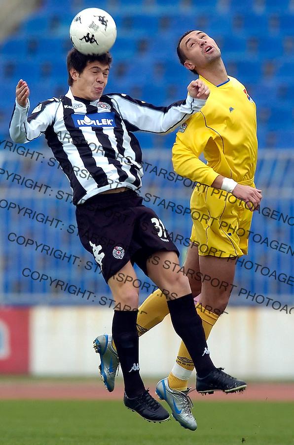 fudbal, sezona 2005/2006&amp;#xA;PARTIZAN-OBILIC&amp;#xA;MILAN SMILJANIC&amp;#xA;BGD, 26.11.2005.&amp;#xA;FOTO: SRDJAN STEVANOVIC<br />