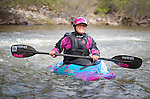 May 30, 2016 - Buena Vista, Colorado, U.S. -  Women's world champion freestyle kayaker, Emily Jackson, prior to freestyle competition during the CKS Paddlefest, one of the Rocky Mountain Region's first adventure events of the summer in Buena Vista, Colorado.