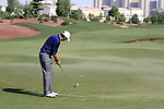 Peter Lawrie takes his putt on the 8th green during Day 1 of the Dubai World Championship, Earth Course, Jumeirah Golf Estates, Dubai, 25th November 2010..(Picture Eoin Clarke/www.golffile.ie)