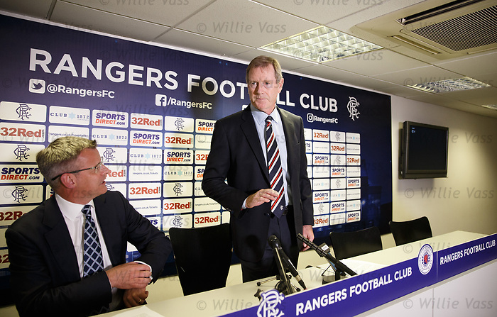 Dave King and Stewart Robertson announce a restructuring of the Sports Direct retail deal with Rangers