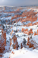 730750100 clearing winter storm at sunrise from sunset point in bryce canyon national park utah