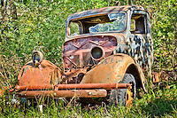 Part of a collection of old cars and trucks located near Tahlequah Oklahoma.