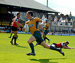Rob Horne goes over for the try. Australia U20 V Canada U20. Junior Rugby World Cup 2008 © Ian Cook IJC Photography iancook@ijcphotography.co.uk www.ijcphotography.co.uk..