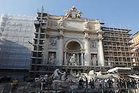 Italy, Lazio, Rome: Trevi Fountain under renovation | Italien, Latium, Rom: der Trevibrunnen wird zur Zeit restauriert