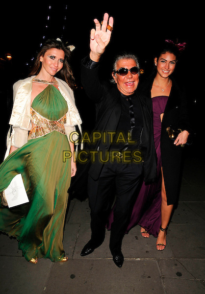 ROBERTO CAVALLI & guests.Attending Andy & Patti Wong's Chinese New Year Party, County Hall, Westminster Bridge Road, London, England, 26th January 2008. .full length black suit jacket sunglasses smoking cigar.CAP/CAN.©Can Nguyen/Capital Pictures