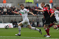Pictured: Mark Gower of Swansea City in action <br />