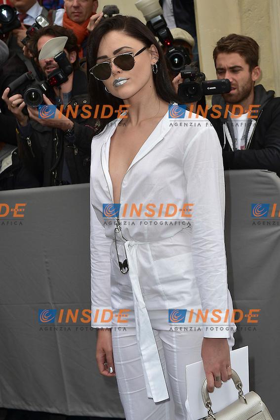 Kristina Bazan <br /> Dior fashion show arrivals - Paris - 30/09/2016