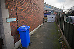 A deserted alleyway behind the the west stand pictured before Sheffield Wednesday take on Peterborough United in a Coca-Cola Championship match at Hillsborough Stadium, Sheffield. The home side won by 2 goals to 1 giving Alan Irvine his third straight win since taking over as Wednesday's manager.