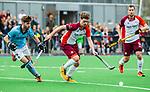 ALMERE - Hockey - Hoofdklasse competitie heren. ALMERE-HGC (0-1) . Daan Hoepman (Almere) met links  Steijn van Heijningen (HGC).    COPYRIGHT KOEN SUYK
