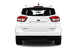 Straight rear view of 2018 Ford C-Max SE-Hybrid 5 Door Mini MPV Rear View  stock images