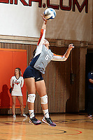 SAN ANTONIO, TX - NOVEMBER 6, 2015: The University of Texas at San Antonio Roadrunners sweep the Louisiana Tech University Lady Techsters 3-0 (25-16, 25-23, 25-18) at the UTSA Convocation Center. (Photo by Jeff Huehn)