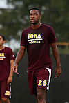 05 September 2015: Iona's Marley McLain. The Duke University Blue Devils hosted the Iona University Gaels at Koskinen Stadium in Durham, NC in a 2015 NCAA Division I Men's Soccer match. Duke won the game 2-1.