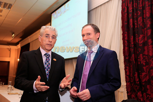 INMO Liam Doran with Anthony Moore in the West Court Hotel<br /> Picture www.newsfile.ie