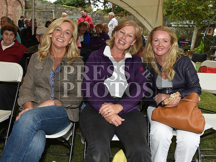 Aisling Monahan, Clare McEnaney and Alison Harvey pictured at the 'Battle of Julianstown' play at Sonairte in Laytown. Photo:Colin Bell/pressphotos.ie