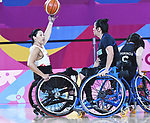 Canada plays Argentina in womens Wheelchair basketball at the 2019 ParaPan American Games in Lima, Peru-25aug2019-Photo Scott Grant, Tara Llanes