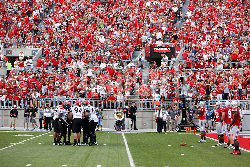 Ohio State Buckeyes against San Diego State Aztecs during their college football game at Ohio Stadium in Columbus on September 7, 2013.  (Dispatch photo by Kyle Robertson)