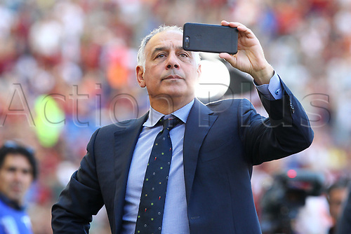 May 28th 2017, Stadio Olimpico, Rome, Italy, Serie A football, Roma versus Genoa; A selfie is taken by James Pallotta Roma President