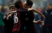Giacomo Bonaventura celebrates after scoring  during   Italian Serie A soccer match between Frosinone and AC Milan  at Matusa  Stadium in Frosinone ,December 20  , 2015