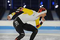 SPEEDSKATING: HEERENVEEN: 30-01-2018, IJsstadion Thialf, Mathias Vosté (BEL) Olympisch pak, ©Martin de Jong
