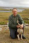 "Tony Heathman, owner of the Estancia, 3000 sheeps near stanley. He's a ""kelper"" he's born here and has always lived in Falklands."