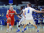February 4, 2015 - Colorado Springs, Colorado, U.S. -    New Mexico guard, Hugh Greenwood #3, drives the lane during a Mountain West Conference match-up between the New Mexico Lobos and the Air Force Academy Falcons at Clune Arena, U.S. Air Force Academy, Colorado Springs, Colorado.  Air Force upsets New Mexico 53-49.