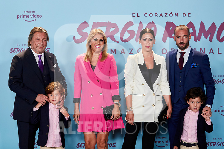 "Paqui Ramos, Jose Maria Ramos and Miriam Ramos attends to ""El Corazon De Sergio Ramos"" premiere at Reina Sofia Museum in Madrid, Spain. September 10, 2019. (ALTERPHOTOS/A. Perez Meca)"