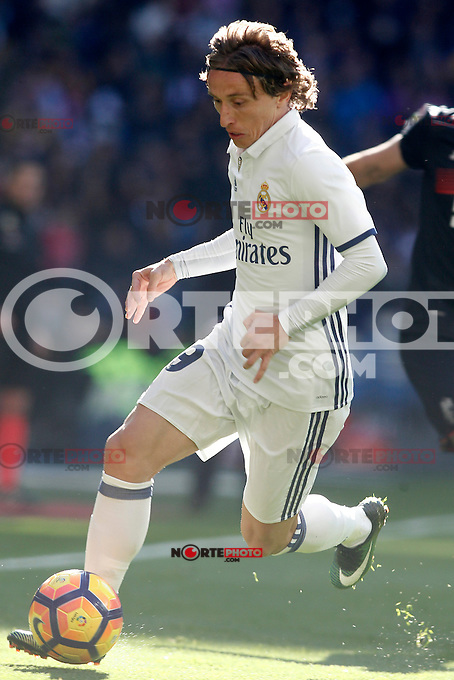 Real Madrid's Luka Modric during La Liga match. January 7,2016. (ALTERPHOTOS/Acero) . NORTEPHOTO.COM