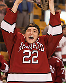 Devin Tringale (Harvard - 22) - The Harvard University Crimson defeated the Boston University Terriers 6-3 (EN) to win the 2017 Beanpot on Monday, February 13, 2017, at TD Garden in Boston, Massachusetts.