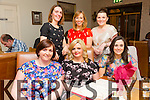 Emma Delaney from Abbeydorney enjoying her Surprise 30th birthday on Friday night at Bella Bia with work collegues from TlI Group pictured Front L-R<br /> Annmarie Prenderville, Emma Delaney, Lisa Courtney. Back L-R Mary Barrett, Majella McElhatton and Nicola O Callaghan