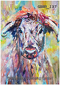Simon, REALISTIC ANIMALS, REALISTISCHE TIERE, ANIMALES REALISTICOS, innovative, paintings+++++SueGardner_Longhorn,GBWR197,#a#, EVERYDAY