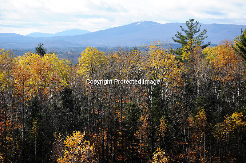 October Snow on Bromley Mountain in the Green Mountains of Vermont USA