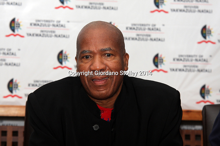 DURBAN - 14 August 2014 - Professor Malegapuru Makgoba, the vice chancellor of the University of KwaZulu-Natal, speaks at a press conference where it was announced that Dr Albert van Jaarsveld from the National Research Foundation would replace Makgoba when he steps down in 2015. Picture: Allied Picture Press/APP