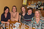 Participating in the Kingdom Bee Keepers association charity Quiz in Stokers Lodge last Friday night to raise much needed funds for a special learning centre on the island of Rodrigues in the Indian Ocean were L-R Maria Foley,Marie Clifford,Mandy McGrath,Ann O Driscoll and Bernie O Connell all Tralee..   Copyright Kerry's Eye 2008