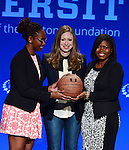 CORAL GABLES, FL - MARCH 07: Vice Chair of the Clinton Foundation Chelsea Clinton (C) with UNSPOKEN SMILES FOUNDATION  attend Clinton Global Initiative University at BankUnited Center on Saturday March 7, 2015 in Coral Gables, Florida. ( Photo by Johnny Louis / jlnphotography.com )