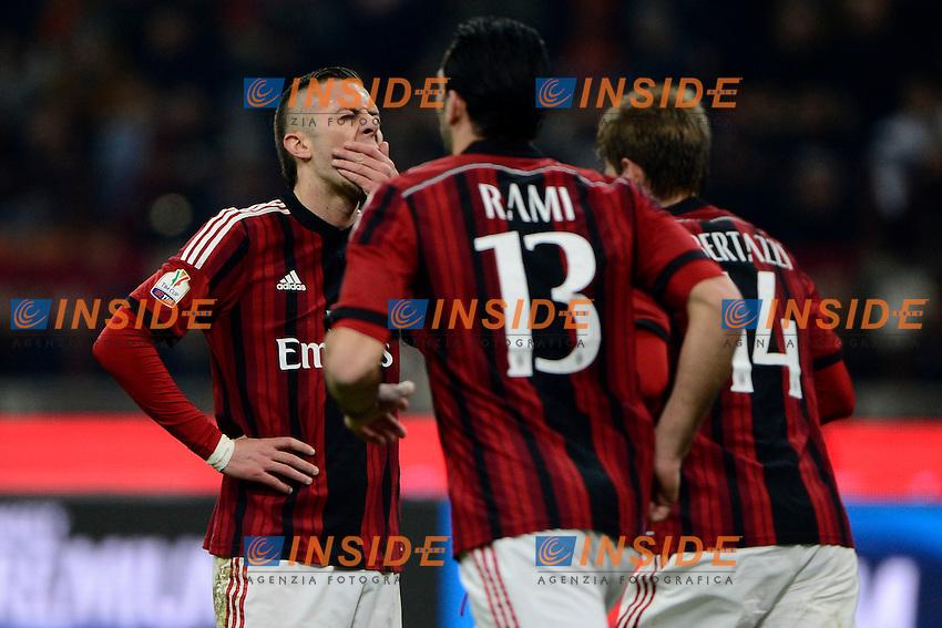 Delusione Jeremy Menez Milan<br /> Milano 27-01-2015 Stadio Giuseppe Meazza - Football Calcio Coppa Italia Milan - Lazio. Foto Giuseppe Celeste / Insidefoto
