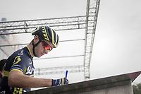 Adam Yates (GBR/Orica-Scott) signing on<br /> <br /> 98th Milano - Torino 2017 (ITA) 186km
