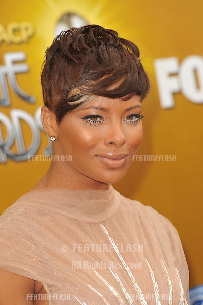 Eva Marcille at the 41st Annual NAACP Image Awards at the Shrine Auditorium..February 26, 2010  Los Angeles, CA.Picture: Paul Smith / Featureflash
