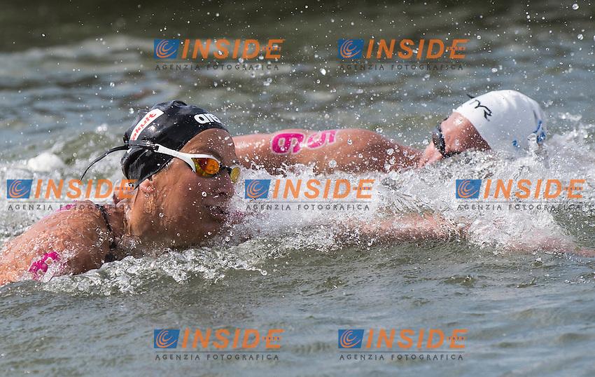 BRUNI Rachele ITA gold medal European Champion and MULLER Aurelie FRA Gold medal European Champion<br /> Hoorn, Netherlands <br /> LEN 2016 European Open Water Swimming Championships <br /> Open Water Swimming<br /> Women's 10km<br /> Day 01 10-07-2016<br /> Photo Giorgio Perottino/Deepbluemedia/Insidefoto
